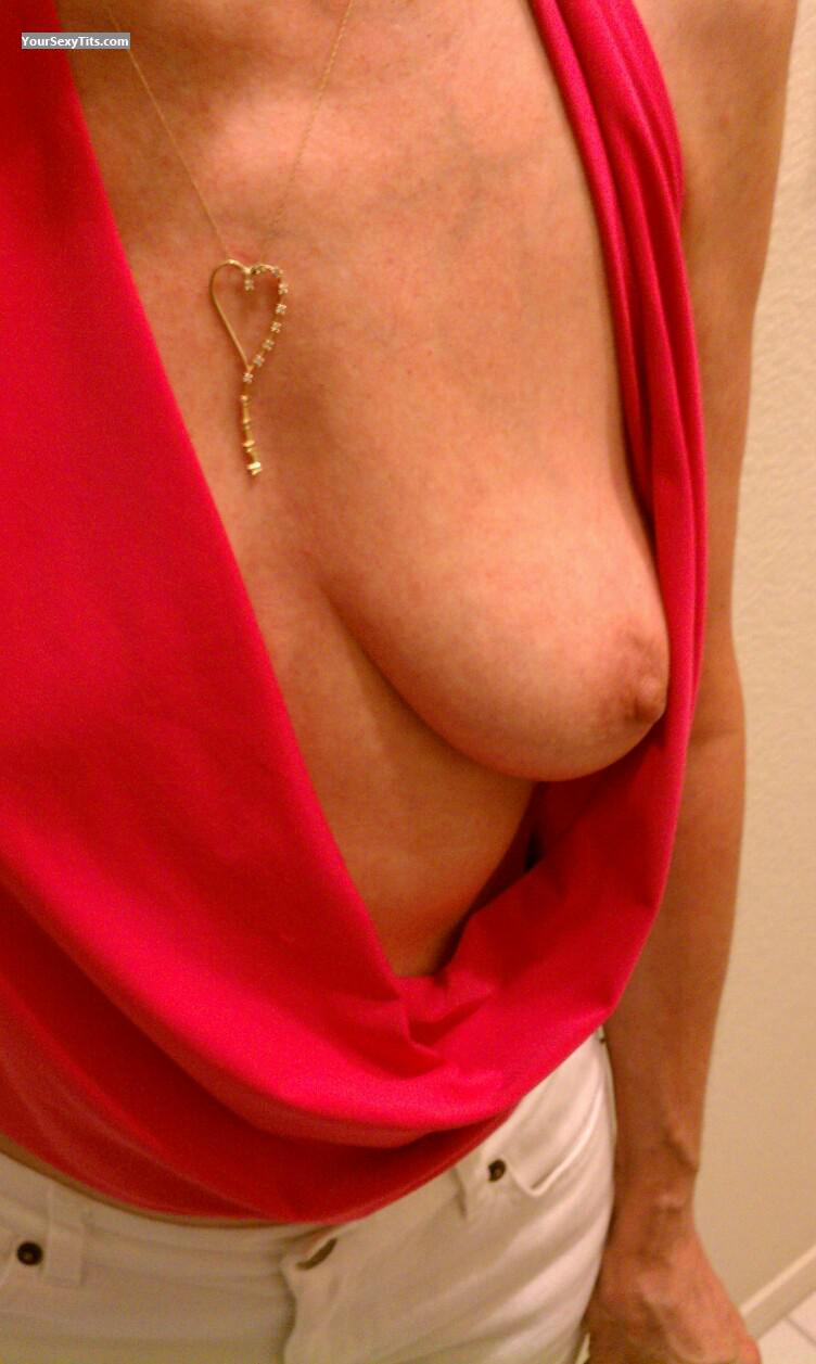Tit Flash: Wife's Small Tits - Hotpink from United States